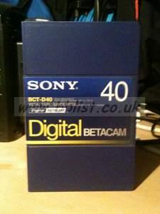 15x NEW Sony 40min Digibeta Tapes