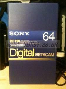 10x NEW Sony 64min Digi Beta Tapes