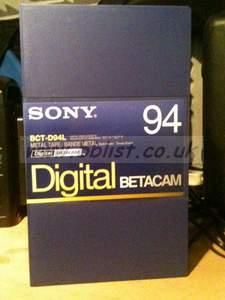 10x NEW Sony 94min Digi Beta Tapes