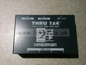 Midiman Midi thru box 1-4