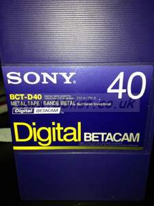 Sony 40min Digi Beta tapes