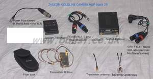 Zaxcom Goldline Wireless UHF Stereo Camera Hop