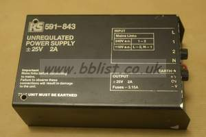RS 25V 2A Unregulated Power supply