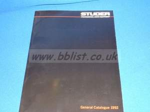 Nagra Studer sales brochures