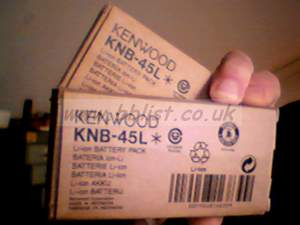 2x new Kenwood Lithium batteries for ProTalk TK3201 walkie t