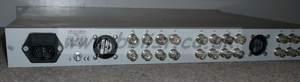 Axon FR3 1U frame with 3x FS-100 SDI frame synchronisers.