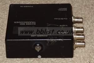 several JVC kc989 SDI to composite / YUV portable converter