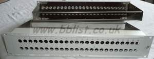 2RU 48 way patch panel (holds 24 U links)