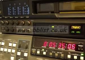 Sony DVW-500P pal digi beta recorder. (2977 drum hours)