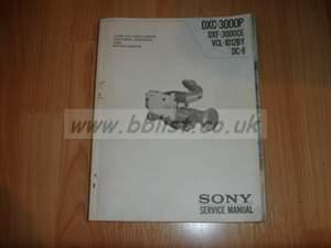 Sony DXC-3000P Camera service manual