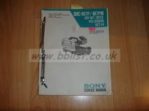 SonyY DXC-M7P service manual  Vol 1 & 2