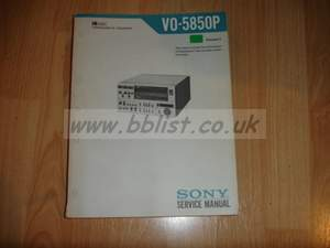 Sony VO-5850P U-MATIC Service manual