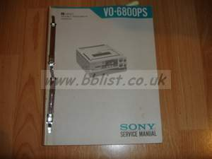 Sony VO-6800PS U-MATIC Service manual