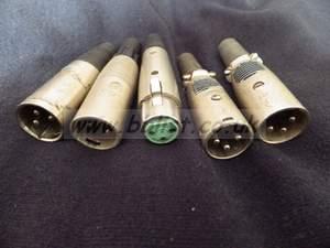 Used 3 pin XLR plugs