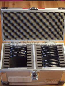 "13 pcs Tiffen 4 1/2"" filter set"