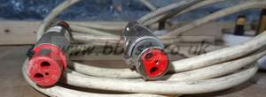 Old Bbc Type Red Power Lead like Xlr Connector Audio For Video