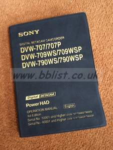Sony Betacam Operation Manual