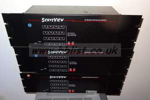 3x Serveview Keyboard controller rack units