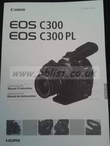 Canon C300 French/Spanish Manual