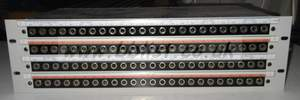 Prewired 24x4 (96 port) audio jackfield with 6.3mm jack port