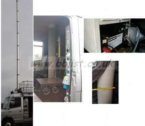Clarke xt12 12metre pneumatic mast with 200 compressor clark