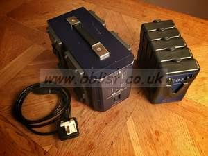 IDX VL-4S V Lock Battery Charger + 5 IDX Batteries