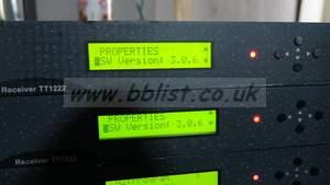 Tandberg T1222 IRD receiver with QPSK input (rf input), SDI