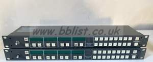 2x Leitch Harris ABA1EXYp XY alphanumeric breakaway router m