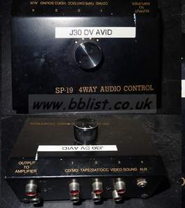 4 way switcher for audio (no power needed), 4in, 1 out (Eg t