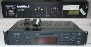Tascam md350 (md-350) mini disc recorder with rack kit