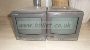 2x Sonu BVM-9021ME Composite Monitors