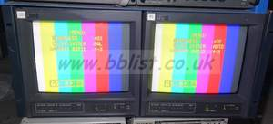 2x JVC TM-A101G 10inch colour CRTglass monitor with 4:3 / 16