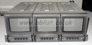 19inch rack with 3x sony pvm6041qm