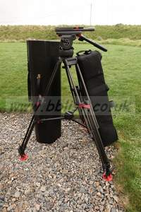 Sachtler Video 18p head and 3 stage one touch CF tripod.