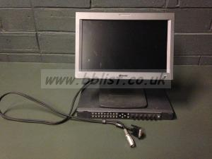 Broadcast monitor + engine unit