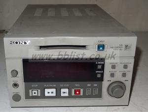 Sony mds-b5 minidisc recorder with aes and analog audio