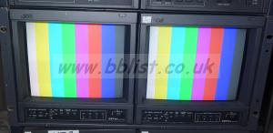 2x jvc dt-v100 10inch monitors with rack kit. 4:3 and 16:9