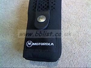 4x new Motorola Cordura cases for GP300 walkie talkies