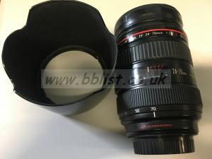 Canon 24-70mm F2.8  L USM with front hood
