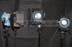 Arri fresnel lighting kit 2x 300w and 650w arrilite+