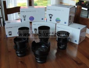 Carl Zeiss ZF2 Cine-Modified EF Mount Prime Lense Set