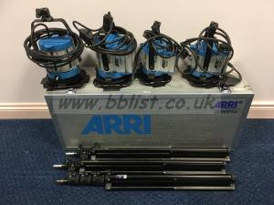 4 Head Arri Junior Fresnel Lighting Kit inc. Flight Case