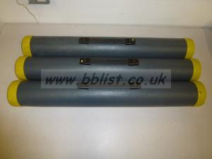 Three tube carry cases, 80cm
