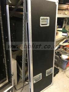 5. feet flight case equipment rack