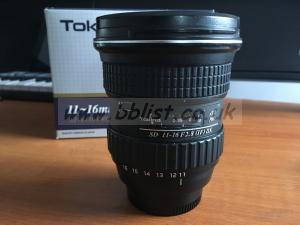 Tokina AT-X PRO 11-16mm F2.8 DX Lens (Nikon F Mount)
