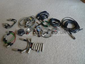 Mix of audio adapters and cables