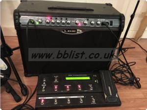 Guitar AMP Line 6 Spider ii 120 Watts 2x10 with FBV Shortboa