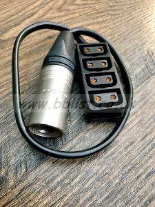 Hawkwoods Male Canon lead to 4 X Dtap sockets