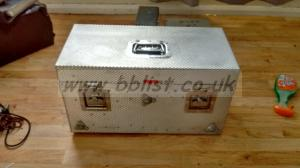 Ex BBC metal flight case for holding sound modules