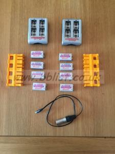 iPower Lithium 9v batteries & charger.